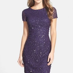 Adrianna Papell Embellished Sheath sequins Dress